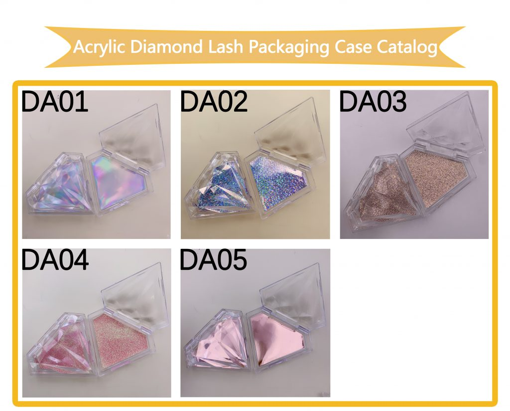 Acrylic Diamond Lash Packaging Case